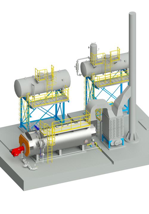 Lò hơi đốt nhiên liệu khí hoặc lỏng